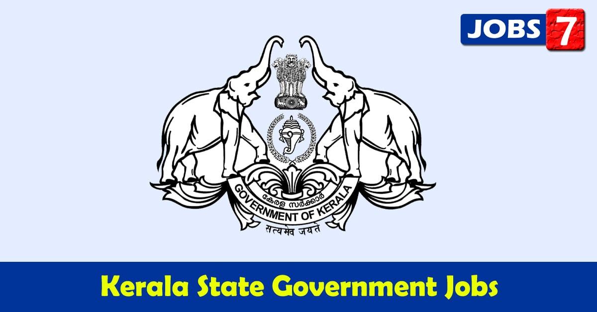 Kerala Govt Jobs 2021 - 10505 Job Vacancies