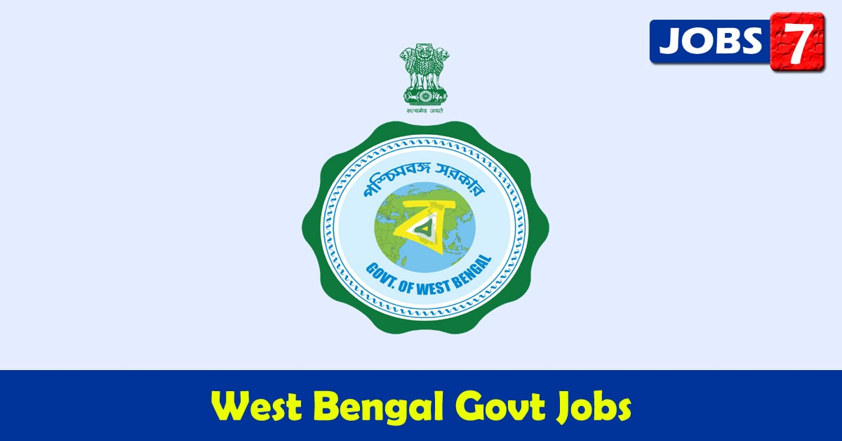 West Bengal Govt Jobs 2021 - 11565 Job Vacancies