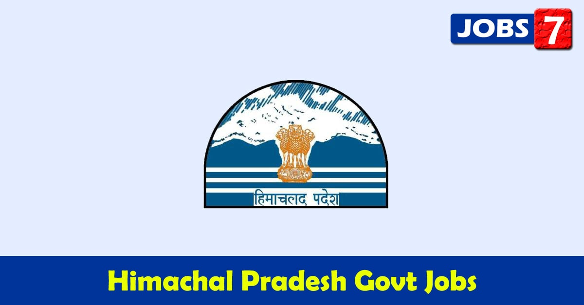 Himachal Pradesh Govt Jobs 2021 - 4474 Job Vacancies