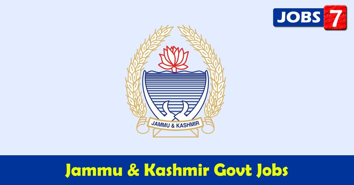 Jammu and Kashmir Govt Jobs 2020 - 6227 Job Vacancies