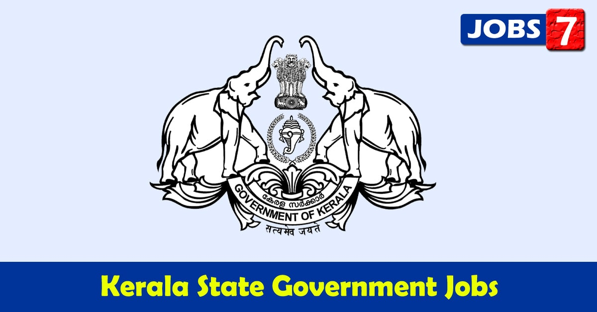 Kerala Govt Jobs 2020 - 7808 Job Vacancies