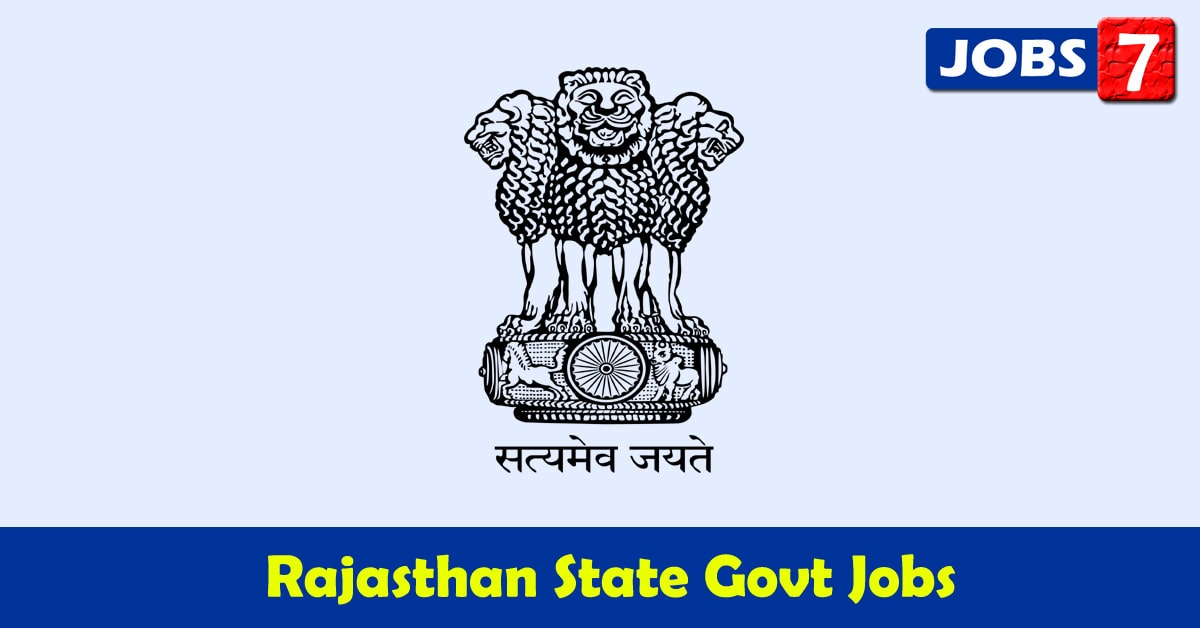Rajasthan Govt Jobs 2020 - 6100 Job Vacancies