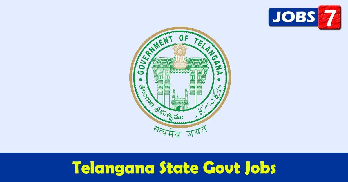 Telangana Govt Jobs 2021 - 4622 Job Vacancies
